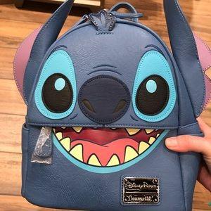 New Disney loungefly stitch mini backpack bag